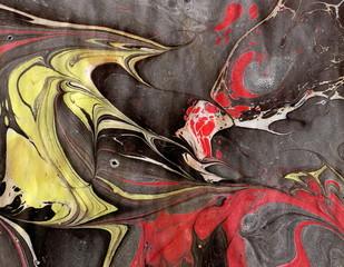 Ebru art. Painting on water