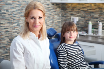 Dentis and little patient