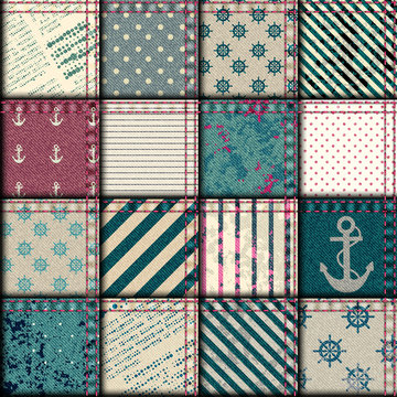 quilting design in nautical style