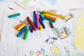 Multi-colored wax pencils