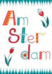 Amsterdam card template