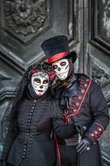 Sugar skull masked couple