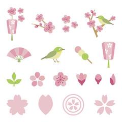 Elements of season of Sakura