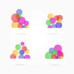 .Abstract colorful circles, design elements. Vector