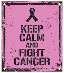 fight cancer sign