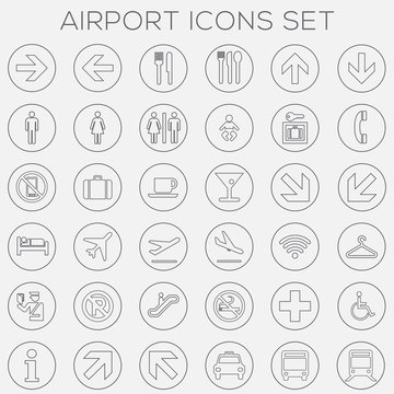 Airport Signage Icons Set - vector eps1