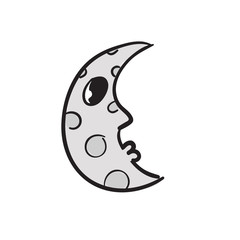Hand drawn moon