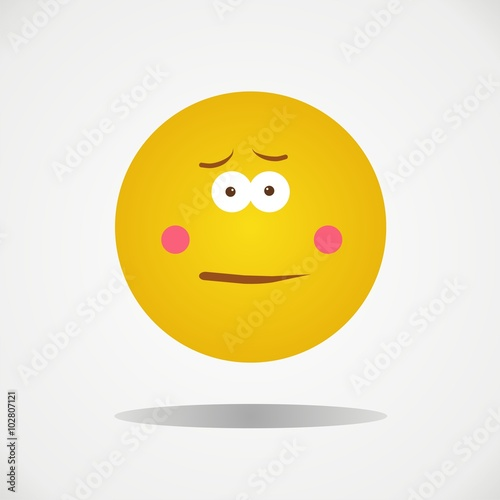 Disgusted face emoticon