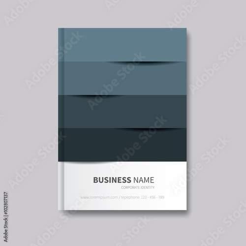 modern brochure flyer layout book cover design with abtract