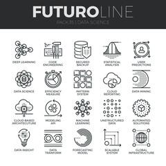 Data Science Futuro Line Icons Set