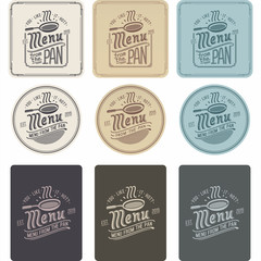 Логотип меню сковорода