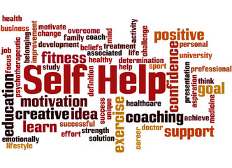 Self Help, word cloud concept 7