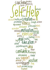 Self Help, word cloud concept 9