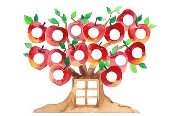 りんごの樹、丸抜き