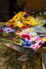 Painter Palette at Tertre Square. Montmartre. Paris