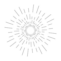Abstract Creative concept vector icon of sunbursts for Web and Mobile Applications isolated on background. Vector illustration template design, Business infographic and social media, origami icons.