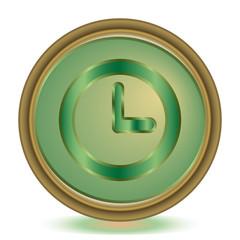 Clock emerald color icon