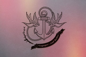 Composite image of anchor icon