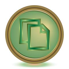 Copy emerald color icon
