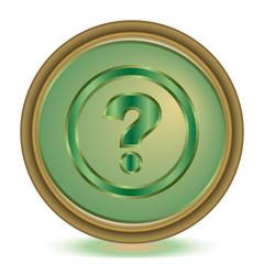 Help emerald color icon