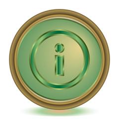 Info emerald color icon