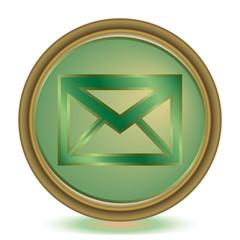Mail emerald color icon