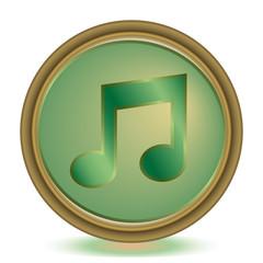 Music emerald color icon