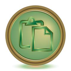 Paste emerald color icon
