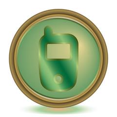 Phone emerald color icon
