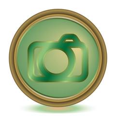 Photo emerald color icon