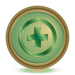 Plus emerald color icon