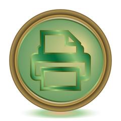 Print emerald color icon
