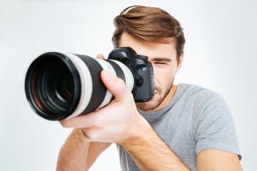 Photographer making shot