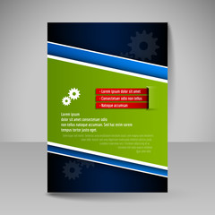 Flyer, magazine cover, brochure, template design for business pr