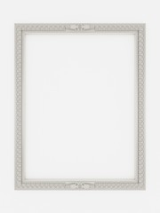 3d empty vintage frames on white wall