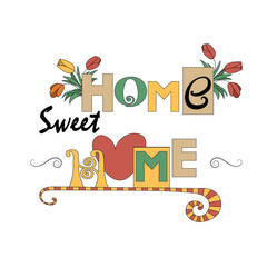 Home and garden decoration style vector background