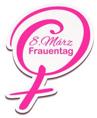 Schild Venussymbol - 8 März Frauentag