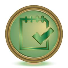 Check emerald color icon