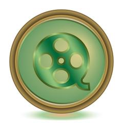 Video emerald color icon