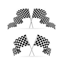 Racing Flag Avto Set. Vector