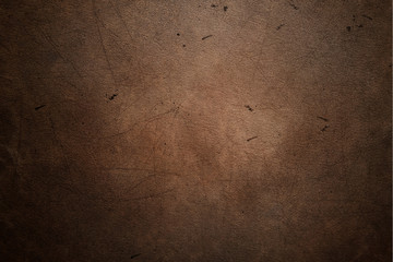 Worn leather with stains texture background