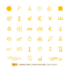 Business icons collection for your scene