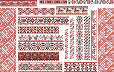 Set of Ethnic Patterns for Embroidery Stitch