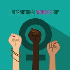 International Women's Day poster. EPS 10
