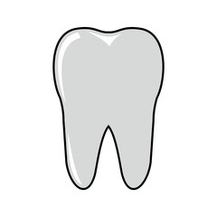 Tooth cartoon icon isolated on white background
