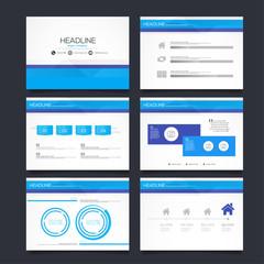 Set of infographic Presentation Template , Infographic Element , business presentation template set design backgrounds.