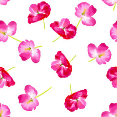 Watercolor flowers seamless pattern.