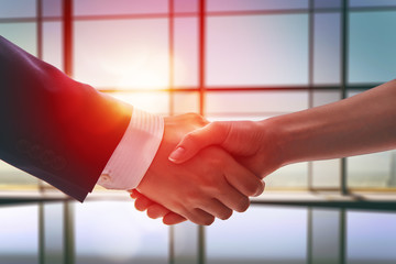 handshake of businessmen.