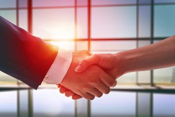 handshake of businessmen.
