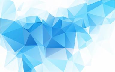 Linght Blue Sapphire Polygonal Mosaic Background Creative Design